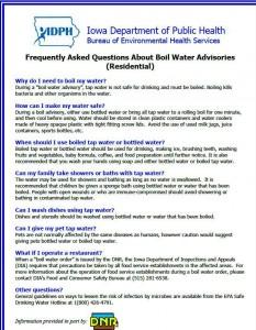 Boil Order FAQ