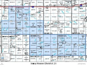 IA House District 21 includes those areas shaded in blue