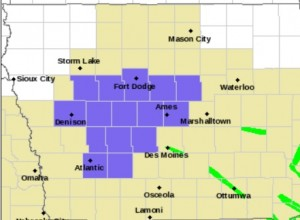Winter Weather Advisory for Counties shaded in purple.