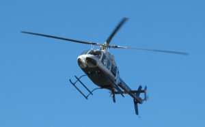 LifeNet prepares to land on Hwy 6.