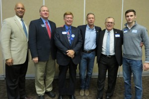 Candidates in photo: Desmund Adams, Tom Fiegen, Bob Krause, Martin O'Malley, Mike Sherzan, and Scott Heldt. Not included in the photo—Jim Mowrer. (Photo submitted by Sherry Toelle)