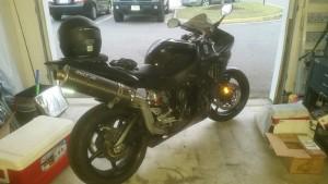 Stolen Yamaha motorcycle