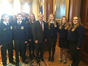 Atlantic FFA members with IA (R) Gov. Terry Branstad.