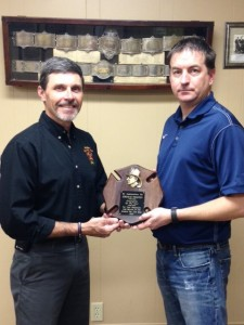Jeremiah Thompson was named 2015 Firefighter of the Year.