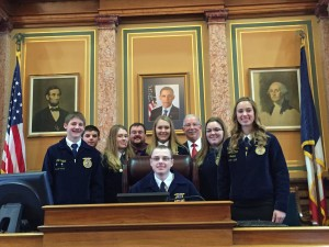 Atlantic FFA members w/Rep. Tom Moore
