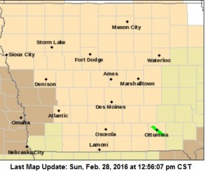 Wind Advisory until 4-p.m. for counties in brown.