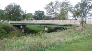 "Photo of a structurally deficient bridge, submitted to Radio Iowa by Neubauer. ""It is very difficult to see what makes this bridge deficient,"" Neubauer said. ""This is typical of most deficient bridges. The deck or driving surface is the element that is causing the deficiency."""