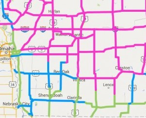 Road conditions as of 8:50-a.m., 2/3/16