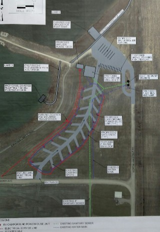 Campground area site plan