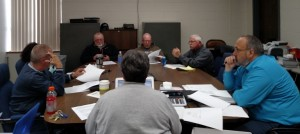Griswold School Board meeting 4-7-16 (Ric Hanson/photo)