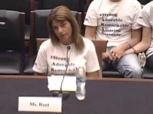 Michelle Root testifies before a Congressional Panel, Tuesday (Radio IA photo)