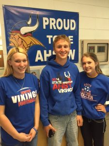 (Left to Right: Katelyn Pigsley, Nathan Herbst, Jayna Olesen)