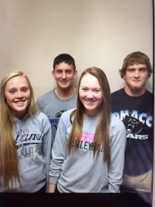 (Front: Aubrey Rose, Taylor Applegate; Back: Max Farver, Brock Bentley)