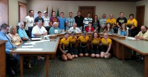 Members of the Atlantic City Council, Atlantic Coaches and their track, golf and soccer squad members. (Ric Hanson/photo)