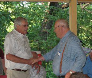 CADCO Executive Dir. Russell Joyce congratulates Dave Nichols