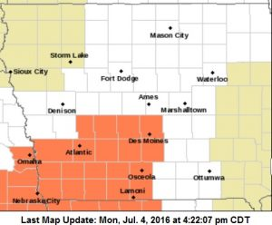 Heat Advisory Tuesday for Counties in orange on this map.