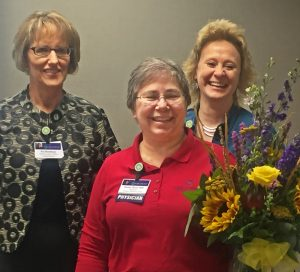 Dr. Elaine Berry (Center) with CEO Pat Markham (Left) and Chief Clinic Administrator Beth Spieker (Right)