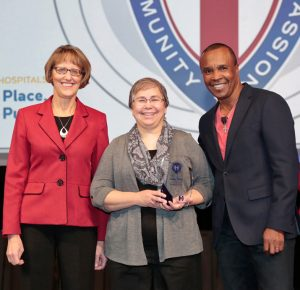 From left to right: CCHS CEO Pat Markham, Dr. Berry, and Sugar Ray Leonard.