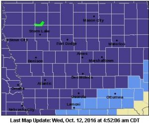 Freeze Warning for Counties in purple, Frost Advisory for those in light blue.