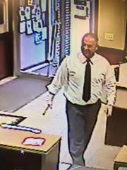 Bank fraud suspect