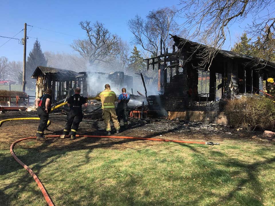 House fire west of Cumberland Sunday afternoon « KJAN | Radio